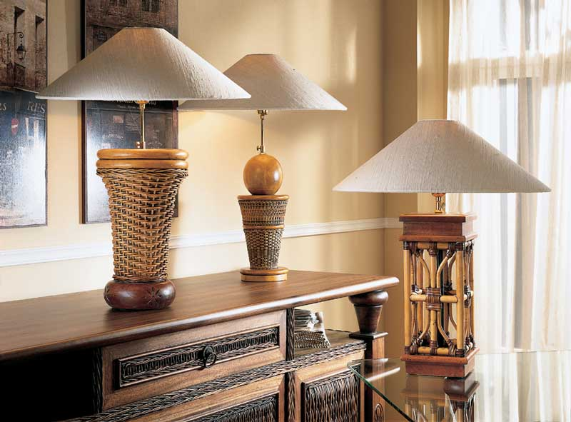 Bali Decor Lamps 6 Unicane Singapore Wicker And Rattan