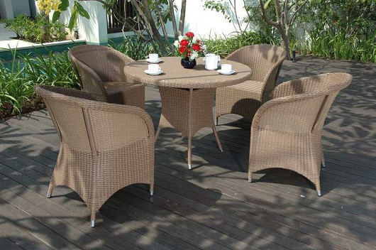 Hawaii dining modern outdoor wicker furniture for patio
