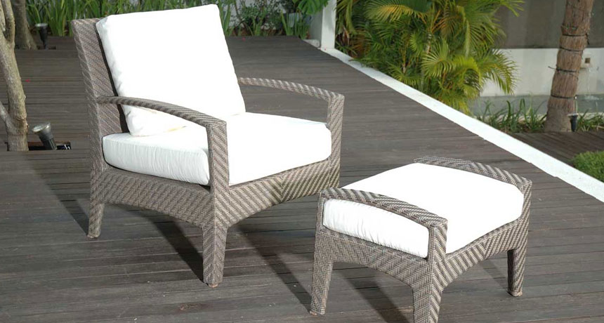 Panama chair and ottoman