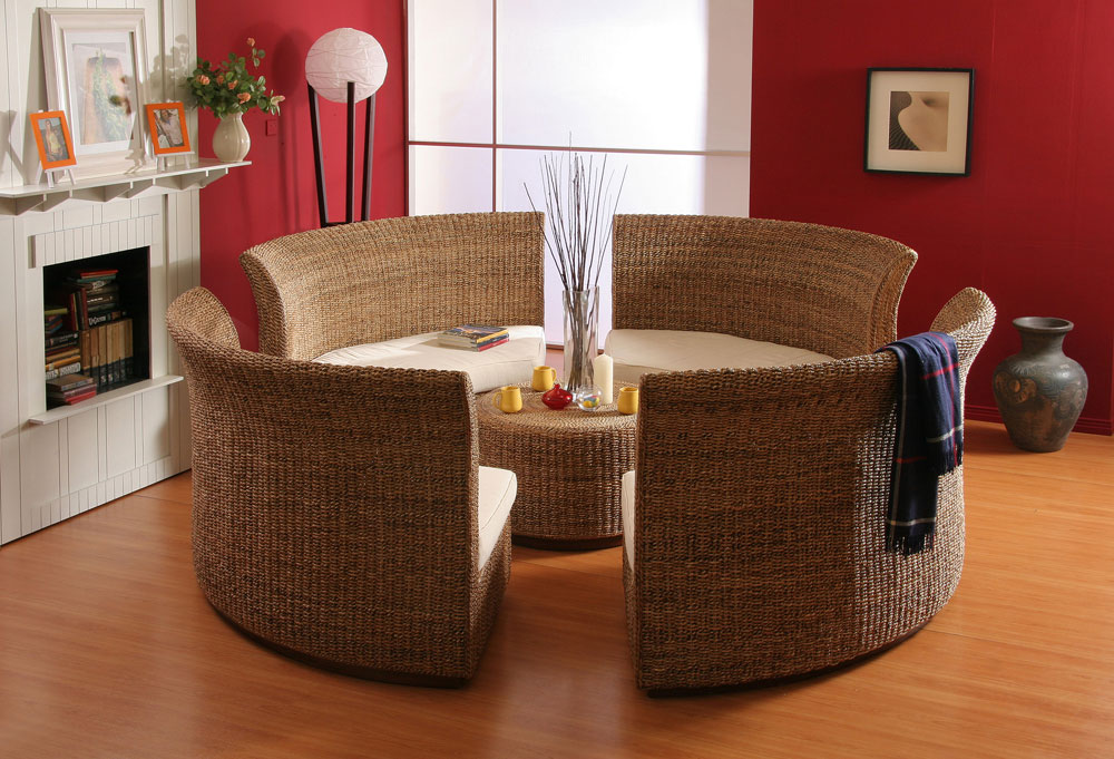 round living rattan furniture
