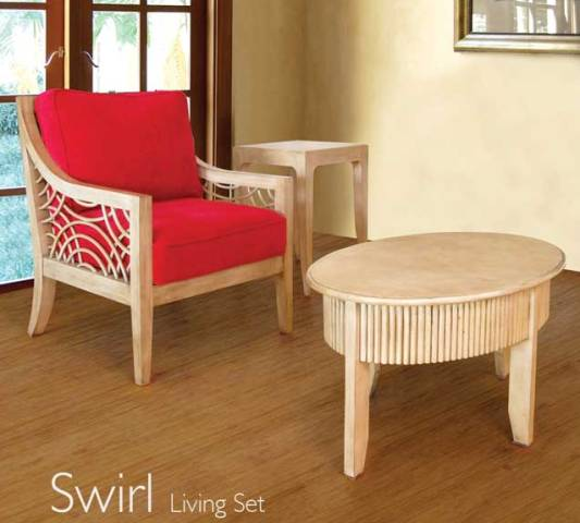 Swirl Living Room Furniture Unicane Wooden Furniture