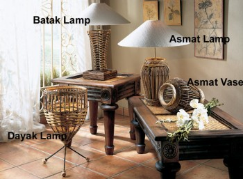 Bali rattan lamps Singapore