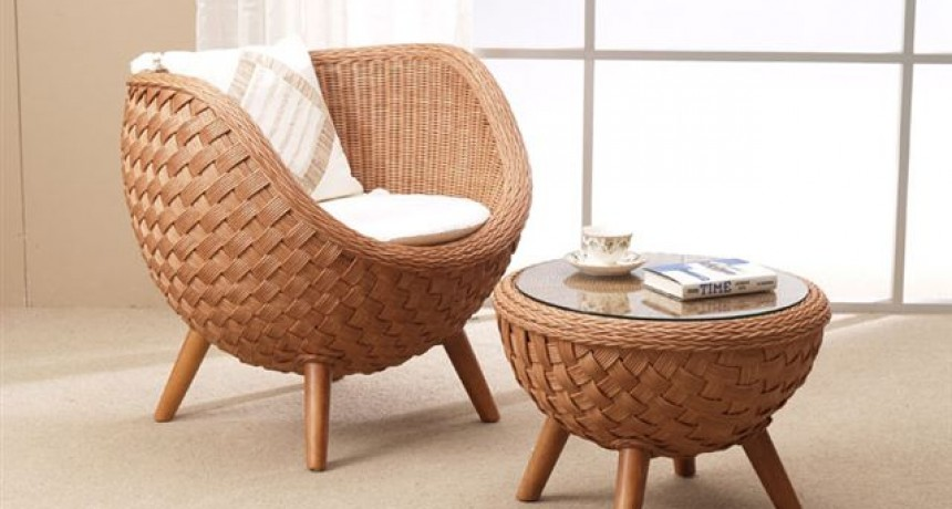 Easy Chair Rattan Living Room Furniture