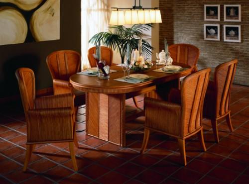 Sabrina Rattan Dining Furniture