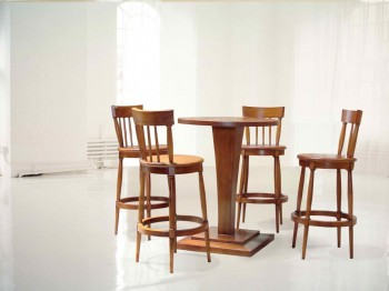 Kursi bundar Wooden Furniture Singapore