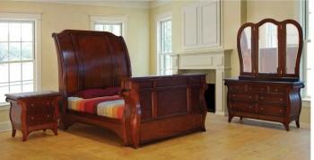 Woodline Bed Set Wooden Furniture