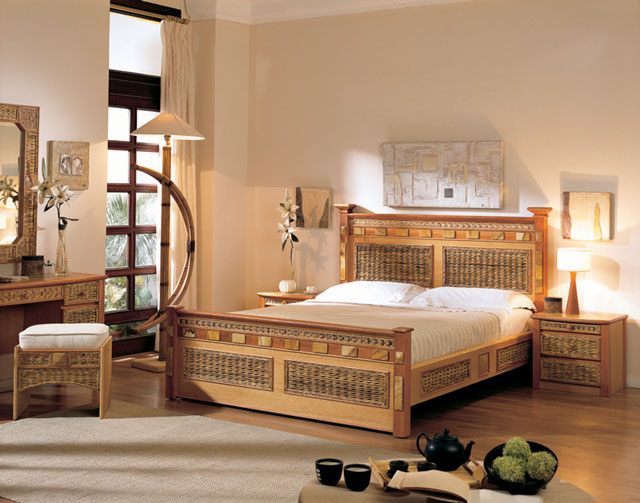 bamboo bedroom set equador bedroom furniture unicane wicker and rattan 10164